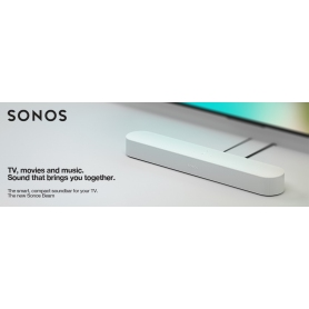 Sonos Beam, the Smart soundbar for your TV  in White